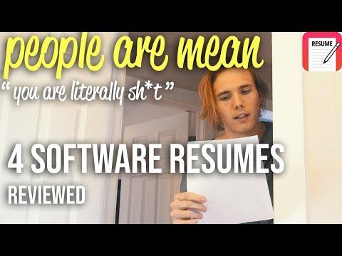 4 SOFTWARE DEVELOPMENT RESUME EXAMPLES! Resume Review Saturdays!