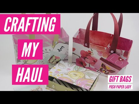 CRAFTING MY HAUL.  !!ONE SHEET GIFT BAGS!!