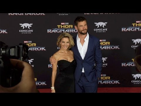 "Chris Hemsworth and Elsa Pataky ""Thor: Ragnarok"" World Premiere Red Carpet"