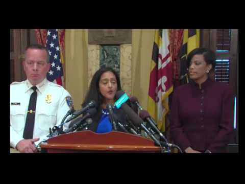Baltimore Mayor & Baltimore PD Press Conference On Justice Dept Findings 8/10/16