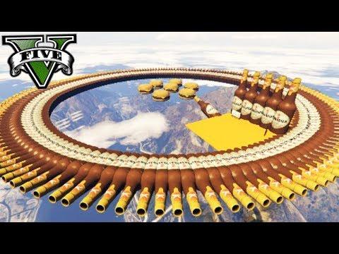 GTA V Online: BATALHA DE CARROS - O CIRCUÍTO OVAL de GARRAFAS!!!