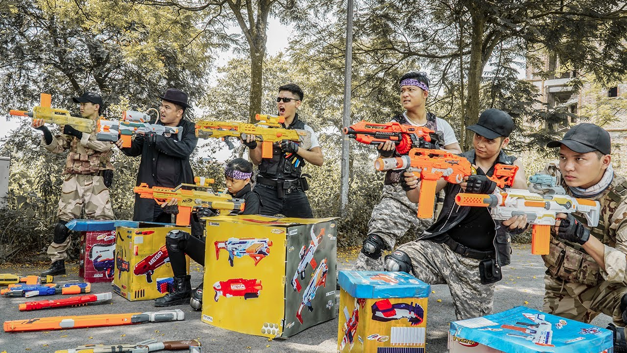 LTT Nerf War : Squad SEAL X Warriors Nerf Guns Fight Dr.Lee Crazy Mobile Bandits