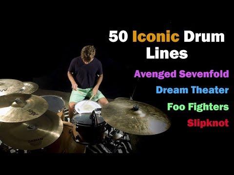 50 Iconic Drum Lines