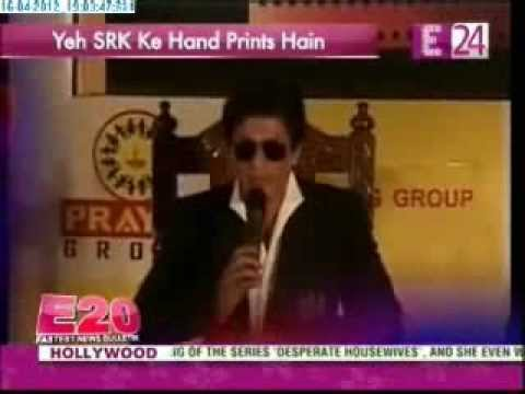 Shah Rukh Khan's @iamsrk handprints get ther eternal resting place in prayag film city