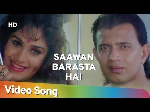 Saawan Barasta Hai (HD) | Shandar (1990) | Mithun Chakraborty | Meenakshi Sheshadri | Rain Song