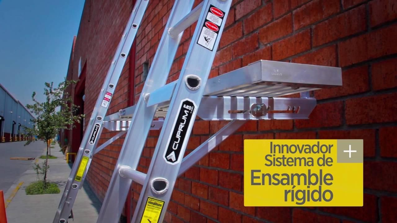 Split ladder serie c 2124 24sln cuprum youtube for Escaleras de aluminio usadas