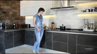 видео Кухни: закаленное стекло в моде