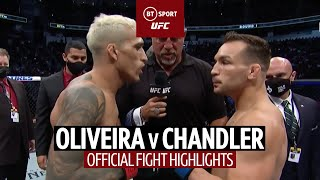 What a turnaround! Charles Oliveira v Michael Chandler   UFC 262 Fight Highlights