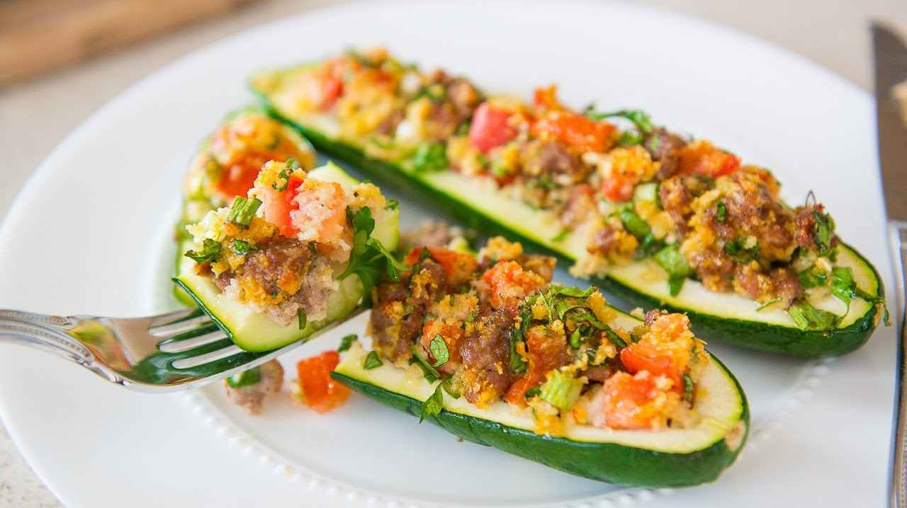 Italian sausage stuffed zucchini boats recipe veggie side dishes italian sausage stuffed zucchini boats recipe veggie side dishes youtube forumfinder Choice Image