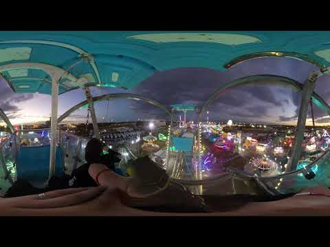 [4K] Giant Wheel at Sunset 360 POV Florida State Fair 2019