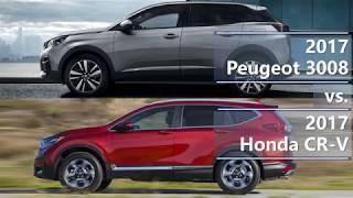 2017 peugeot 3008 vs. 2017 honda cr-v (technical comparison)