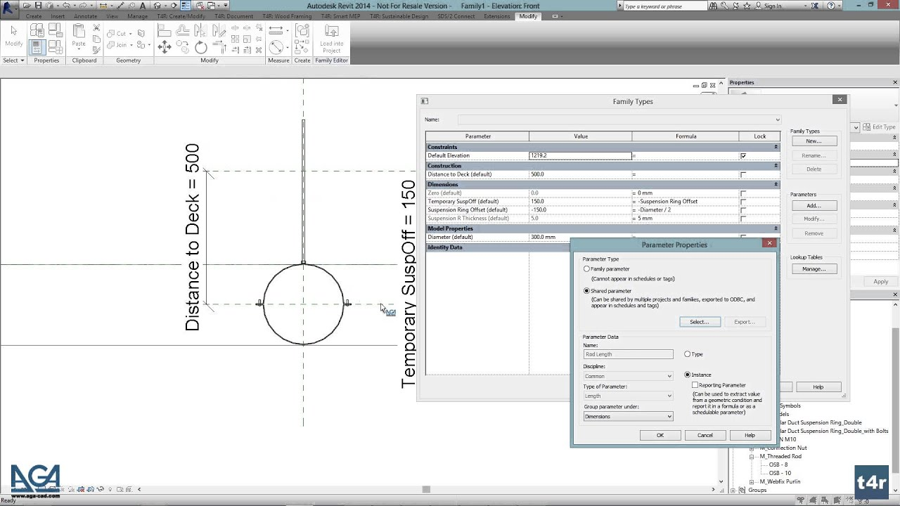 How to Create a Custom Hanger in Revit