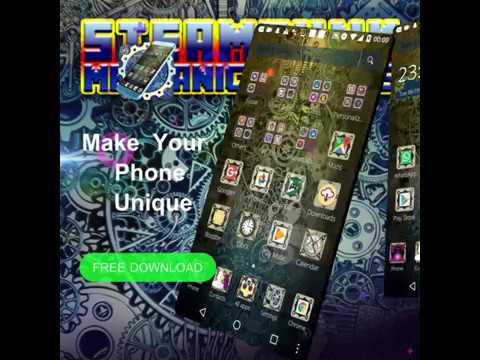 Steampunk Mechanical Gears Theme - Android Theme