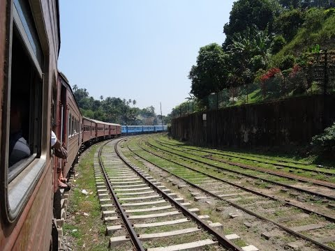 by train Kandy - Colombo (Sri Lanka)
