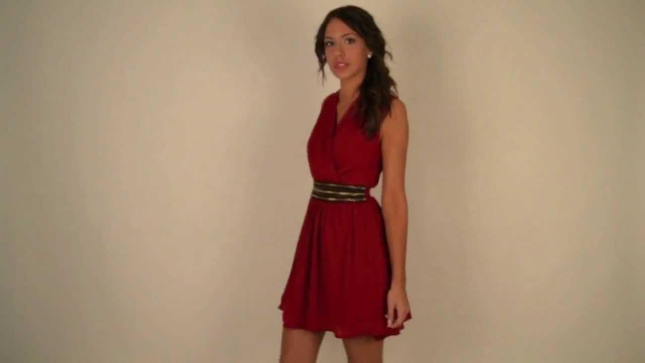Moda Online Vestido Paradis En Vino Youtube