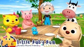 Canciones Infantiles | El Cerdito Come Manzanas | Dibujos Animados | Little Baby Bum en Español