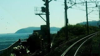 JR Tōkaidō Main Line driver's view from Tokyo to Atami in Japan