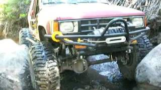 flat bed toyota in the rubicon with poor gears