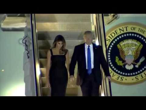 MAGA: President Donald Trump arrives in Sicily, Italy ahead of G7 summit May 25, 2017 Air Force One