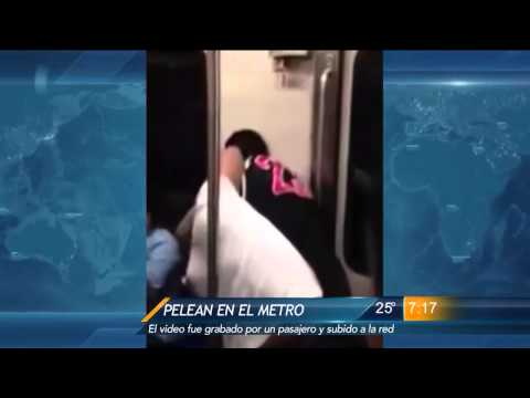 Las Noticias - Pelea en el metro de Monterrey