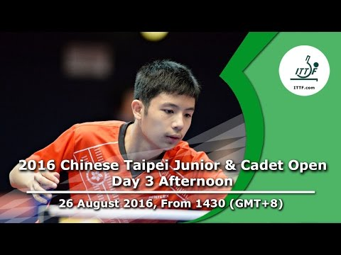 2016 ITTF Chinese Taipei Junior & Cadet Open - Day 3 Afternoon