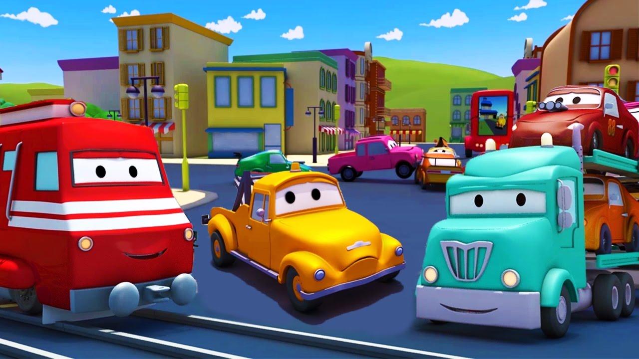Download Troy el Tren 🚒 y el Porta Autos en Auto City 🚗 Dibujos animados para niños
