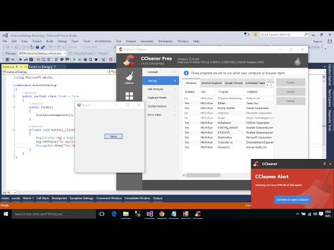 C# Tutorial - How to make an Application auto run on Windows startup   FoxLearn