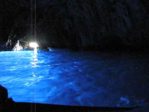 Blue Grotto (Grotta Azzurra) in Capri island