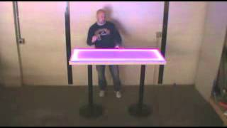 60x24 Acrylic Led Lighted Tables And Table Bases