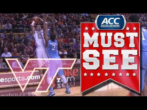 Virginia Tech S Will Johnston Drains Desperation Three Pointer Vs Unc Acc Must See Moment