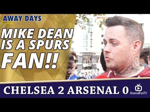 Mike Dean Is a Spurs Fan!! | Chelsea 2 Arsenal 0