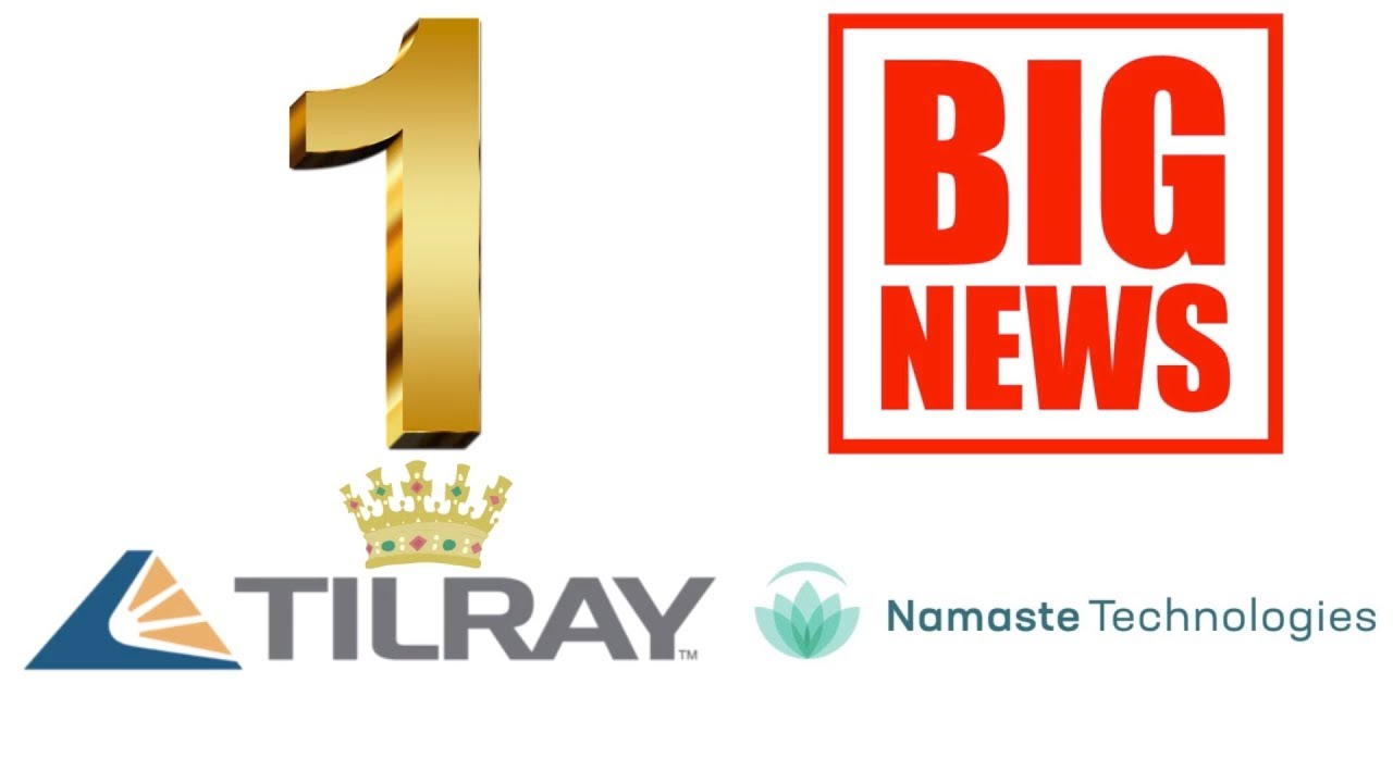 Tilray Stock Is The Number 1 In The World Big Namaste News Youtube