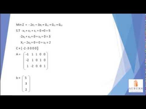 Simplex Algorithm Tutorial AU Spring 2014
