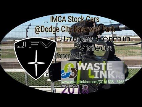 IMCA Stock Cars #6, Heat 2, Dodge City Raceway Park, 06/08/18