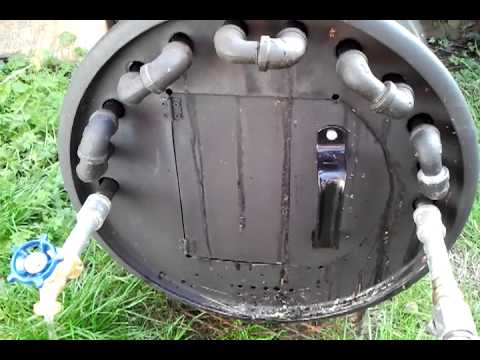 Wood Fire Hot Water Heater Test Youtube