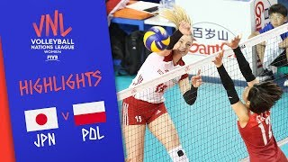 JAPAN vs. POLAND - Highlights Women | Week 5 | Volleyball Nations League 2019