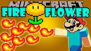 FIRE FLOWER MOD - Bolas de Fuego a los Mario Bros! - Minecraft mod 1.7.10 Review ESPAÑOL