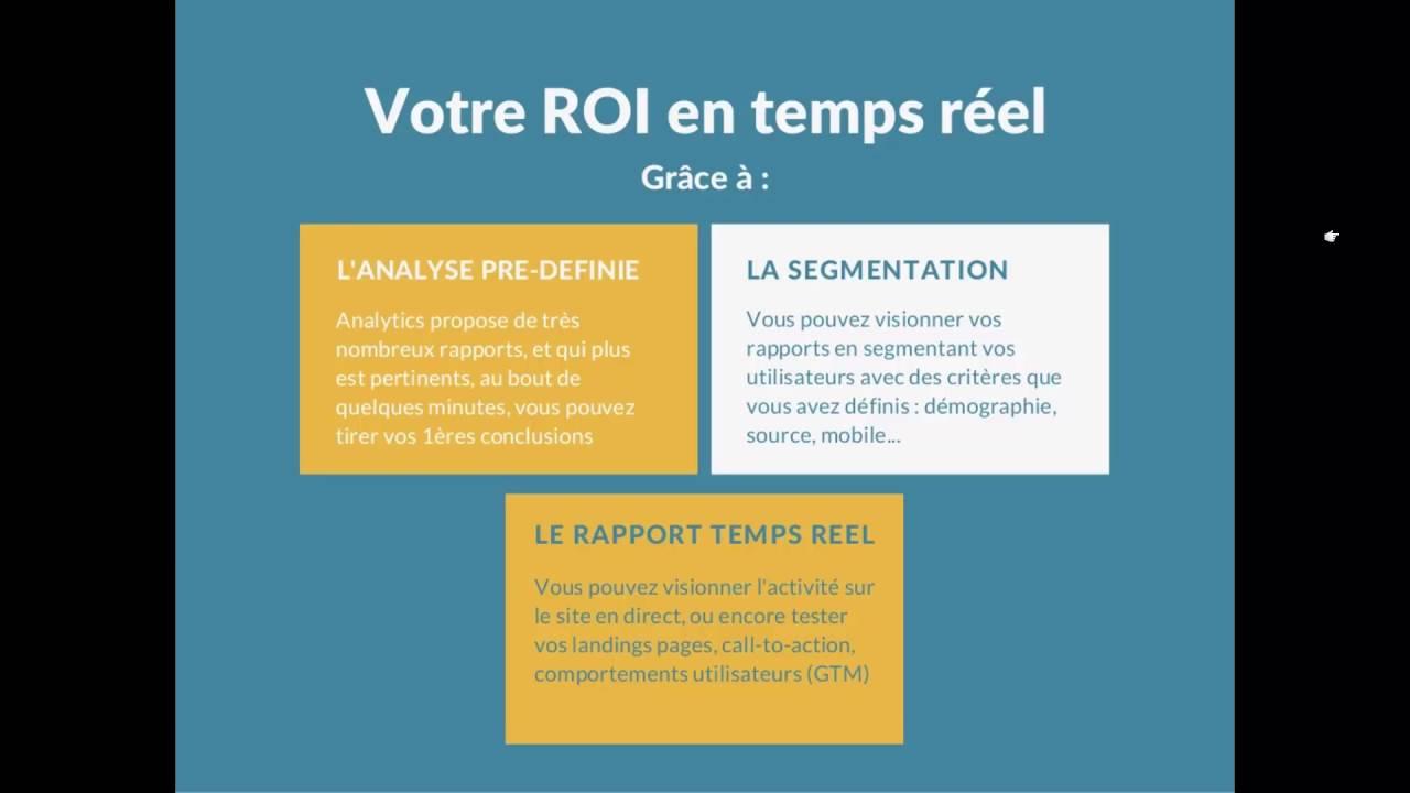 Google Analytics - L'analyse en temps réel de votre ROI