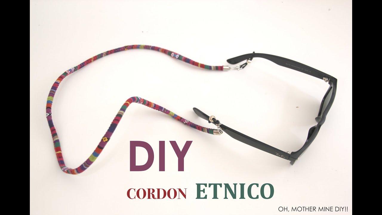 e6817ad5ca DIY Cordon de gafas etnico - YouTube