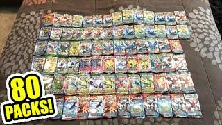 OPENING 80 POKEMON CARD BOOSTER PACKS FROM 20 TINS! - Multiple SECRET RARE PULLS!