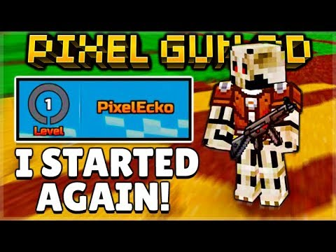 I Started AGAIN! In Pixel Gun 3D - Back To LEVEL 1