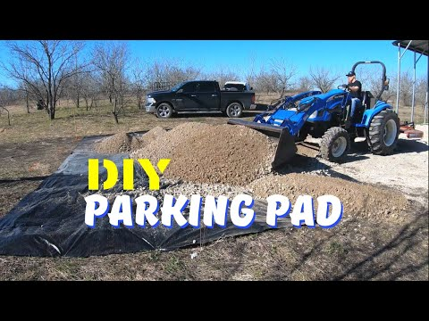 DIY Gravel Parking Pad