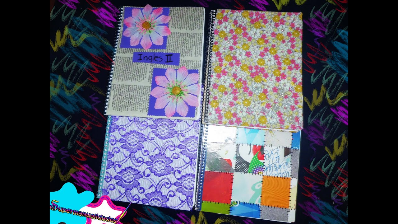 Decora tus cuadernos f cil y r pido supermanualidades for Decorar paginas