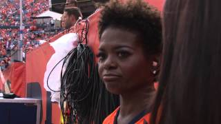 LaChanze sings the National Anthem at the Denver Broncos Home Opener
