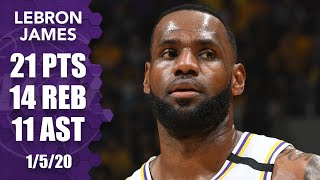 LeBron posts his ninth triple-double of the season in Pistons vs. Lakers | 2019-20 NBA Highlights