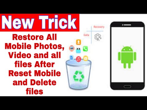 How To Recover Deleted Photos // How To Restore All Mobile Data/Files After Delete And Reset Mobile
