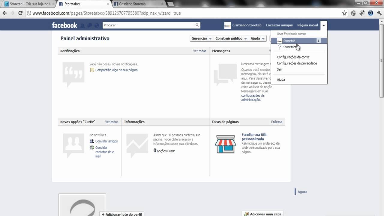017d17029 Criando sua loja virtual no facebook em poucos minutos integrado pagseguro