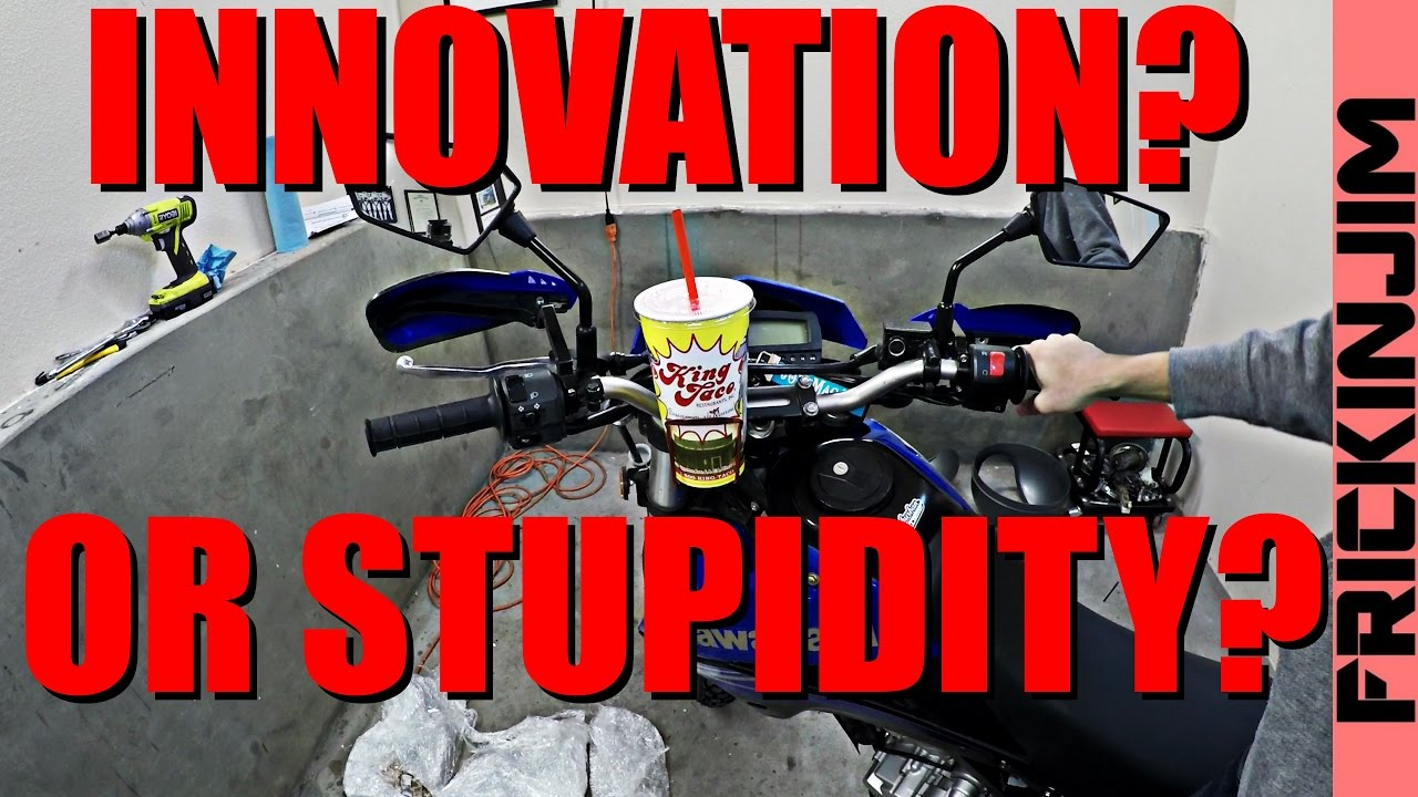 Motorcycle Cup Holder Does It Work No Bs Test Youtube