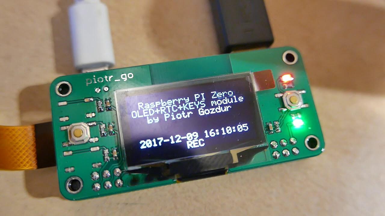 Raspberry pi camera + OLED / RTC / BUTTONS module, vid2