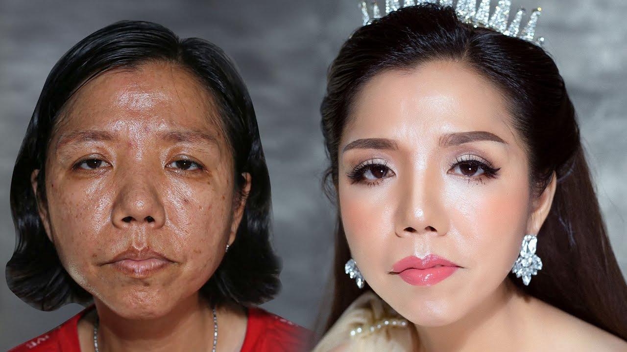 Trang Điểm Cho Khuôn Mặt Chảy Xệ U40(Makeup With Sagging Face)/ Hùng Việt Makeup